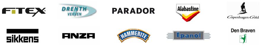 Fitex Drenth verven Parador Alabastine Copenhagen Gold Sikkens Anza Hammerite Epanol Den Braven