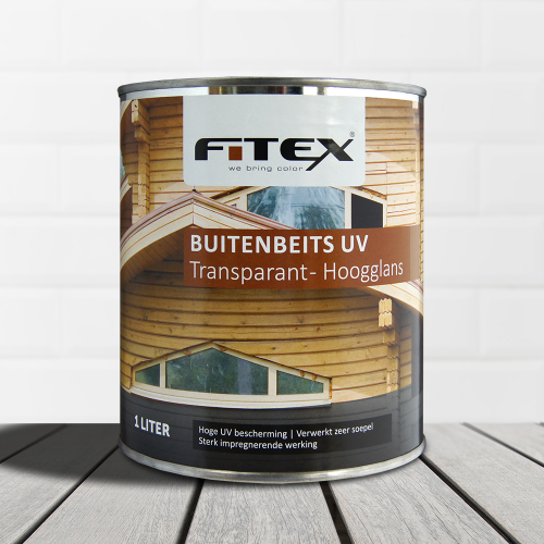 Fitex – Buitenbeits UV transparant – hoogglans