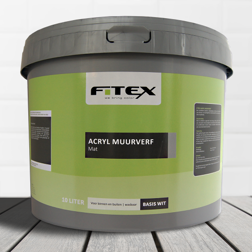 Fitex – Acryl Muurverf Mat Wit