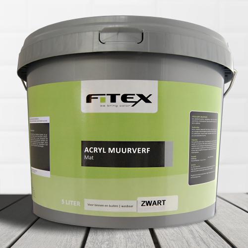 Fitex – Acryl Muurverf Mat Zwart